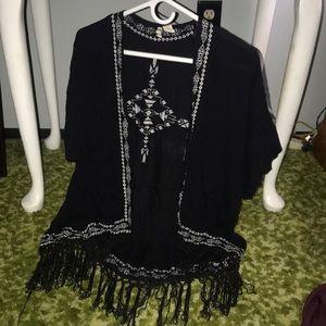 Hippie tasseled shawl